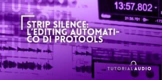 come usare lo strip silence di protools